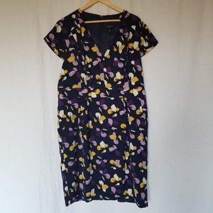 Ann Taylor floral print dress plus size 16.